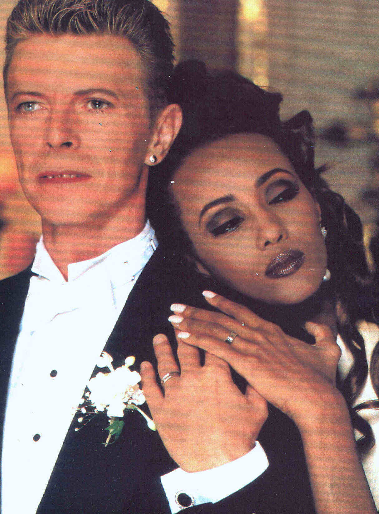 What a pretty picture of David and Iman!